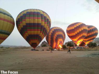 カッパドキア 気球 光景
