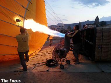 カッパドキア 気球 火