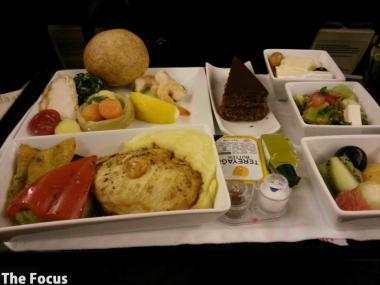 トルコ航空 コンフォートクラス 機内食