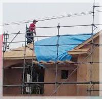 屋根上に雨対策