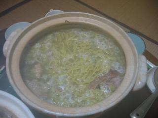 甲州地鶏スープのラーメン