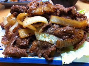 牛たん 和 メガ盛カルビ焼 アップ