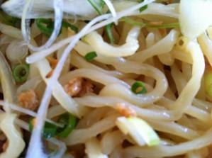 麺辰 冷やし坦々麺 麺アップ
