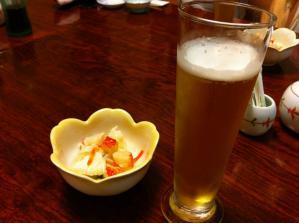 花寿司 ビール(小)