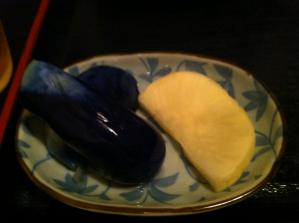 ゆう膳 日替わりミニ丼うどんセット 漬物