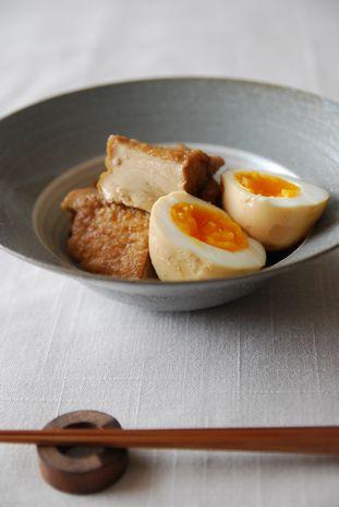 厚揚げと卵の煮物1