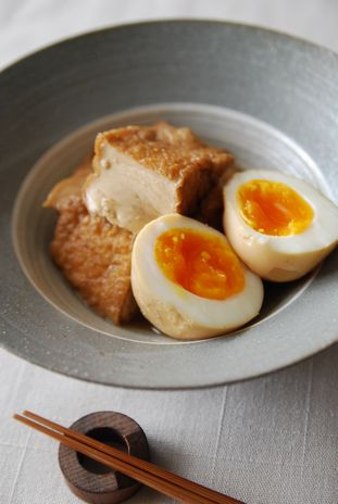 厚揚げと卵の煮物4