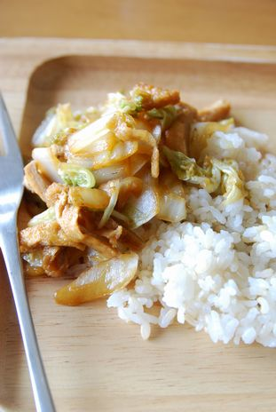 白菜と薄揚げの生姜焼き1