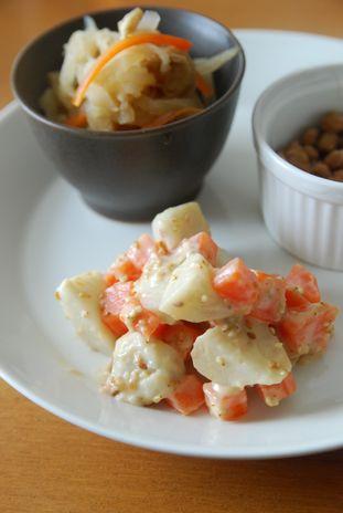 里芋と人参のゴママヨサラダ1