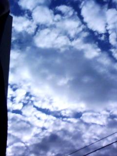 だって空が綺麗なんだもん