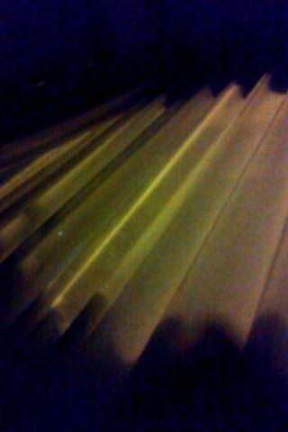 光るカーテン