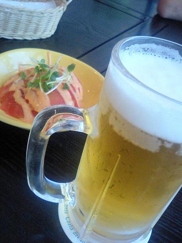 ビールには冷えたトマト!
