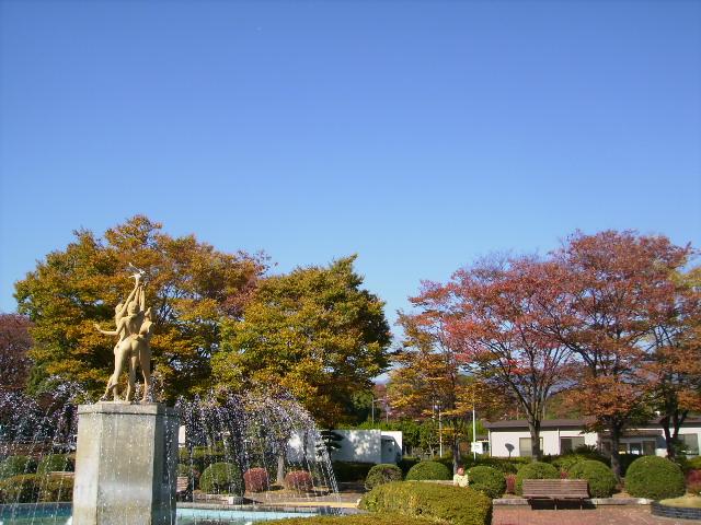 噴水と黄葉54