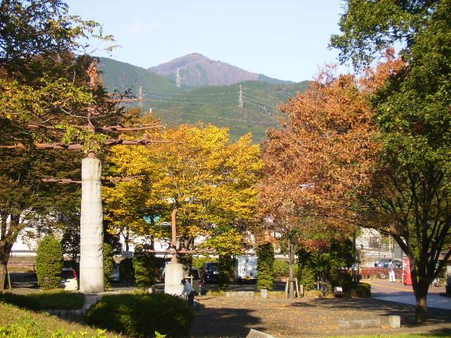 黄葉と大山04