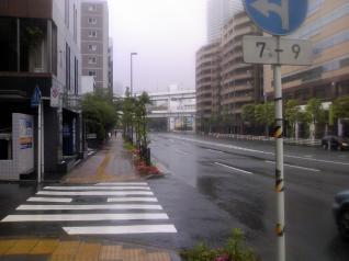 雨の国道15号