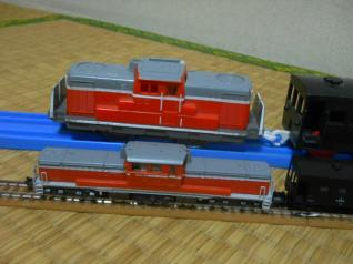 DD51プラレールとNゲージ