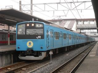 201系ケヨ54編成HM付き