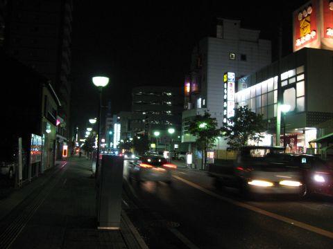 小山宿夜景