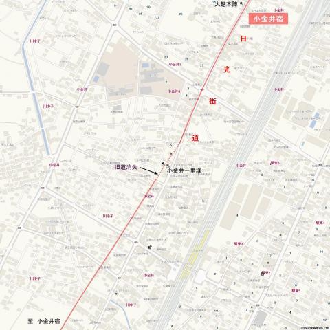 日光街道・小金井一里塚