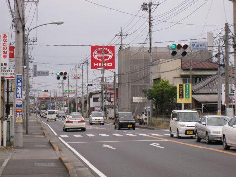 国道4号・横田新町交差点