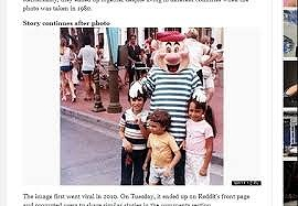 33年前にディズニーで撮影された写真
