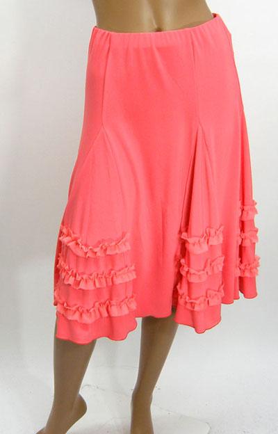 シフォンギャザー裾飾りスカート1