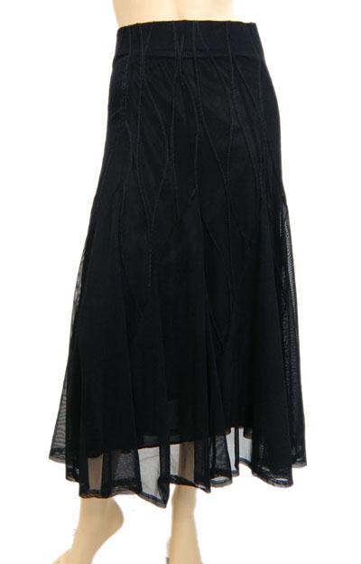 シンプルステッチ入りメッシュスカート