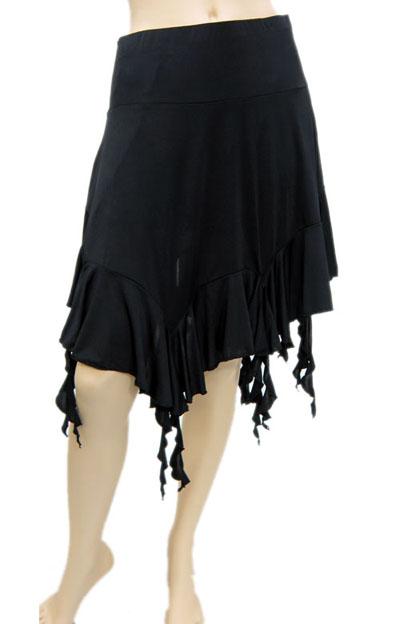 裾ランダム膝丈スカート