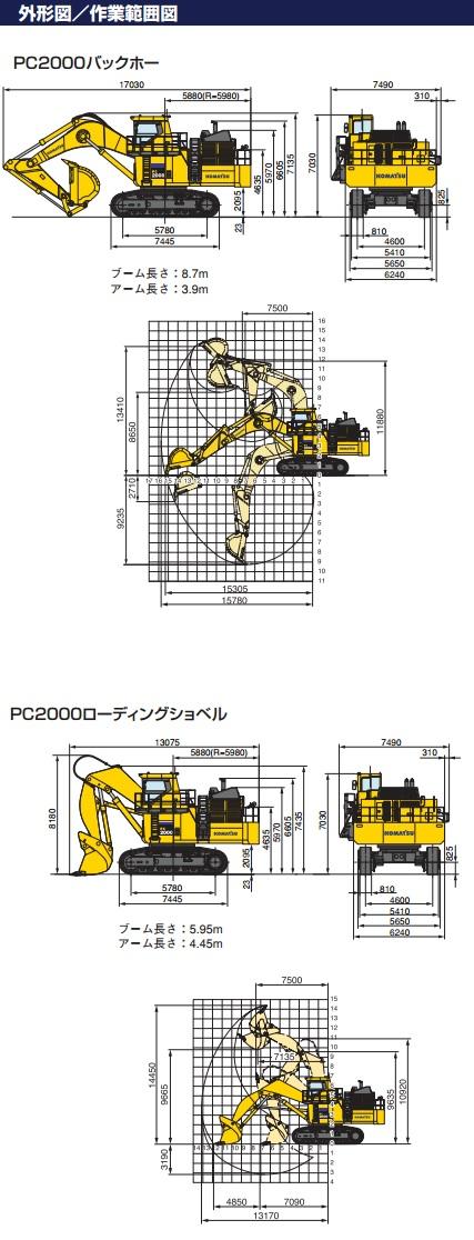 コマツ 油圧ショベル(PC-2000-8)