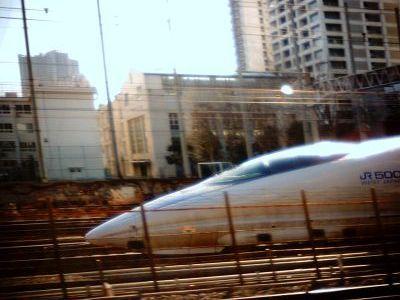 500系新幹線 田町通過