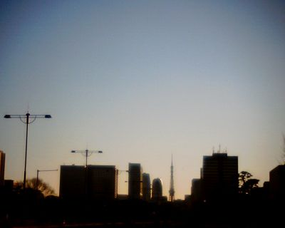 皇居前から眺めた東京タワー