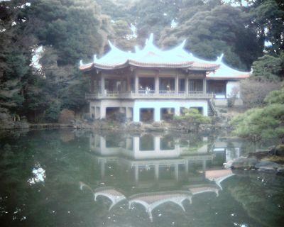 水鏡:新宿御苑