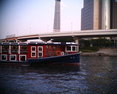 水上バスと東京スカイツリー:R2改