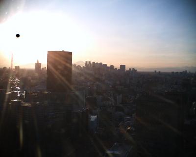 夕日と富士山:R2