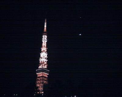 東京タワーと太陽系の星たち:R2