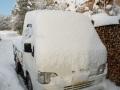 雪と軽トラ