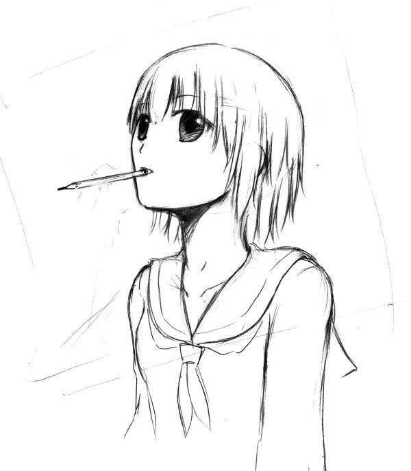 鉛筆の味がする
