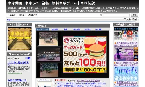 卓球丼の姉妹サイトの卓球伝説ではニコニコ動画を扱っています。卓球伝説へ移動する場合は、この画像をクリックして下さい