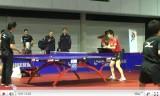 松平健太のサーブ練習(世界卓球2011の練習会場)