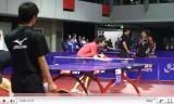 水谷隼のサーブ練習(世界卓球2011の練習会場)