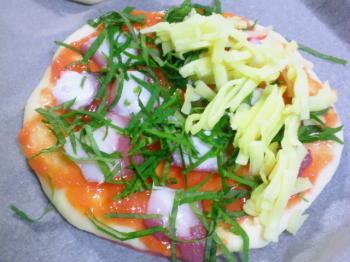 タコのピザ