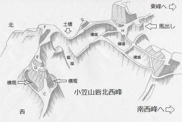 小笠山砦北西峰
