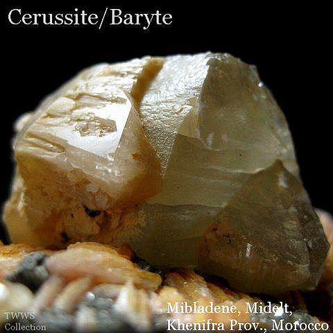 白鉛鉱&重晶石_モロッコ1