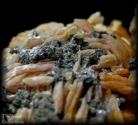 白鉛鉱&重晶石_モロッコ1母岩