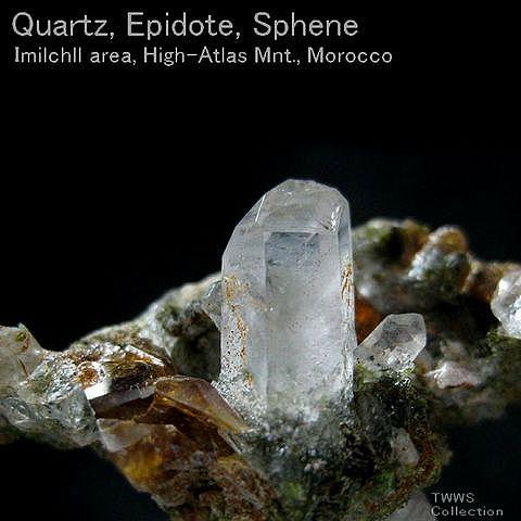 水晶&緑簾石&くさび石_モロッコ1