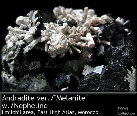 メラナイト&かすみ石_モロッコ1