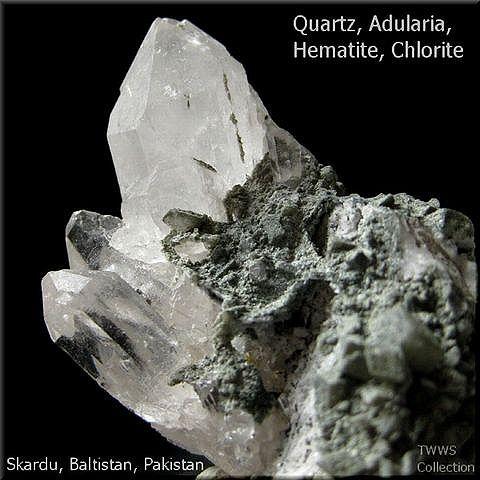 水晶&氷長石_パキスタン1