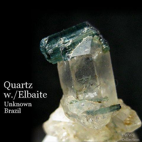 水晶&リチア電気石_ブラジル1