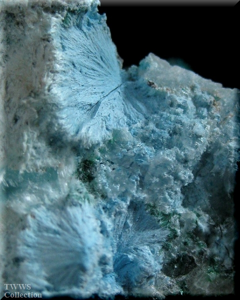プランヘ石&翠銅鉱&方解石_コンゴ1プランヘ石2
