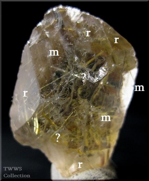 ルチル水晶_ブラジル6裏結晶面